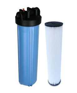 "Jumbo 20"" blue whole house water filtration system with 02 sub micron nanofiber filter"