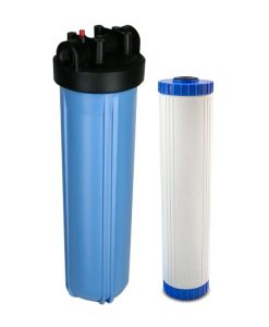 Deionized water filter system blue 20 inch jumbo housing with DI cartridge