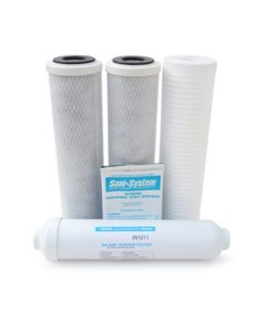 Replacement Water Filter Kit for Watts Premier Models RO-TFM-5SV (500032), CRO-TFM-5SV, Pur-Tek, Ultra 5, RO-5, & 5 Stage Reverse Osmosis Systems