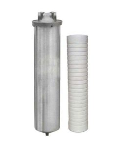 stainless steel whole house water filter or point of entry water filter with scale inhibitor cartridge