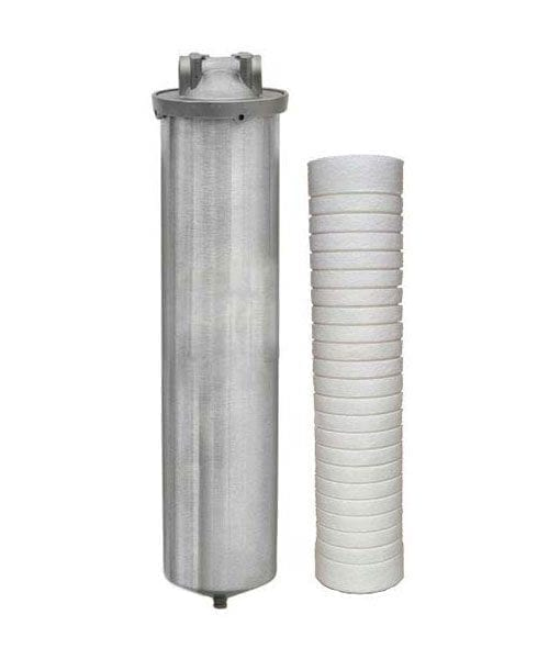 High Flow Whole House or Point-of-Entry  316L Stainless Steel Industrial Grade  Water Filter with Sediment/Scale Inhibitor Cartridge