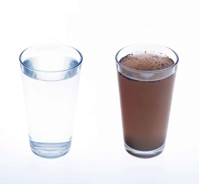 tannins in water - yellow water, brown water