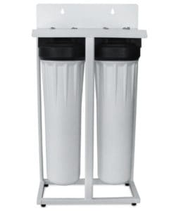 UF membrane filter with carbon filter for well water - metal floor stand unit